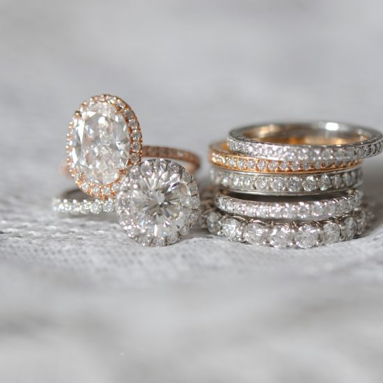 Diamond Halo Engagement Rings and eternity bands