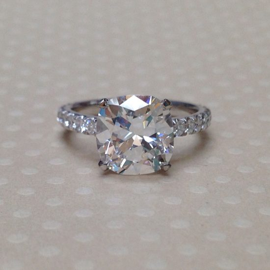Cushion Diamond with diamond band