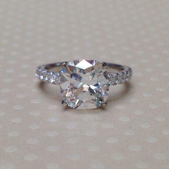 Cushion Diamond with diamond band