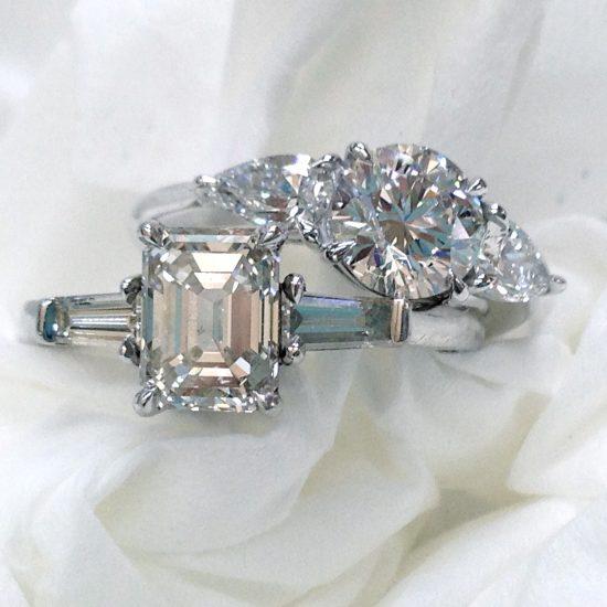 Diamond 3 stone rings