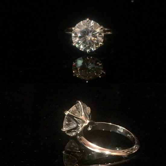 Round Brilliant 6 prong ring