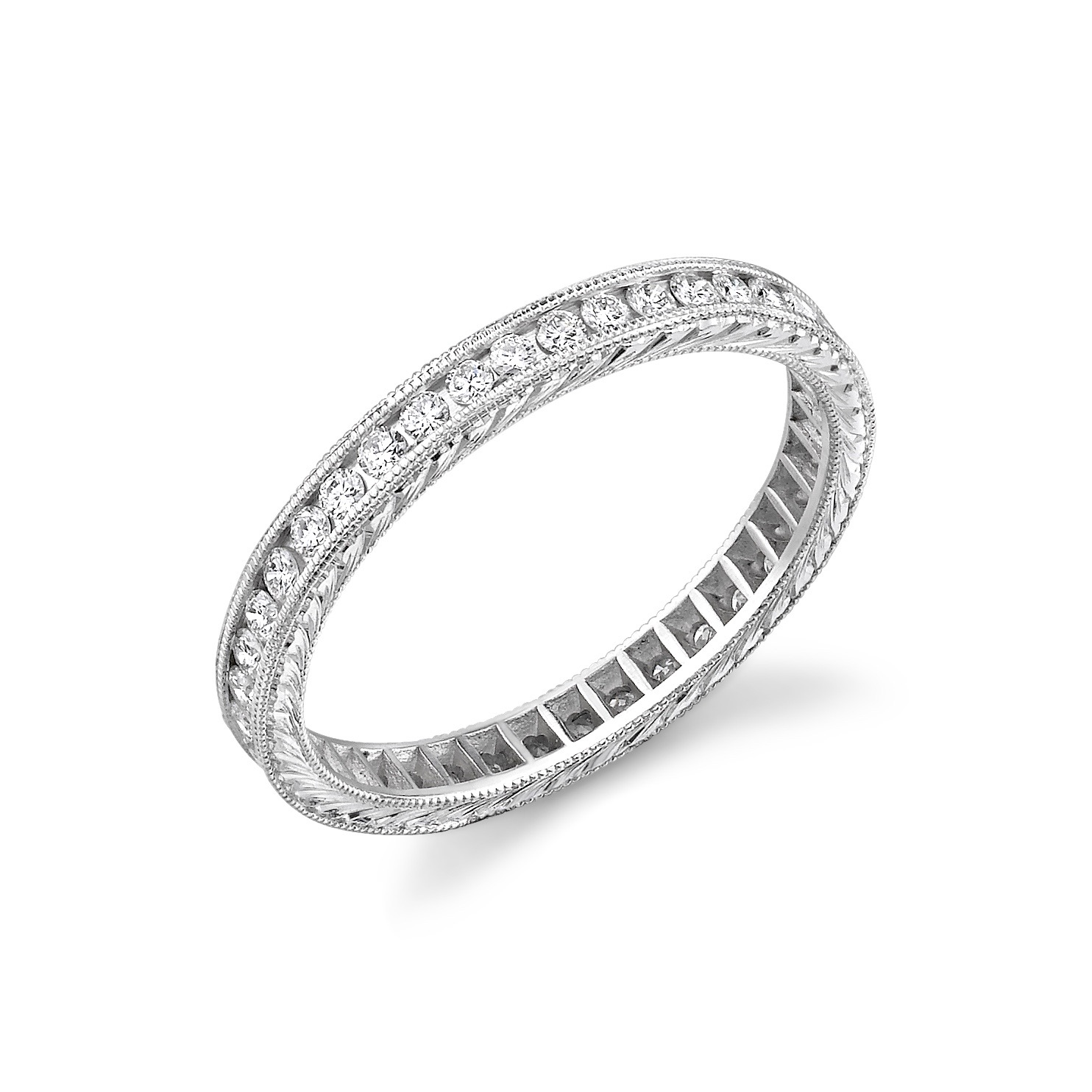 Round Diamond  Eternity Band Channel Set