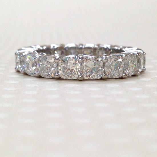 Diamond cushion ring