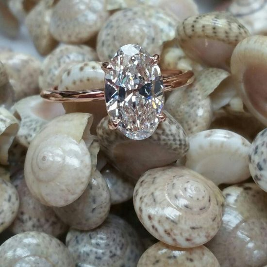 Oval Solitaire Ring in Rose Gold